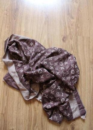 Поразительный мягкий стильный женский шарф louis vuitton