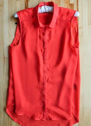 Крутая алая блуза