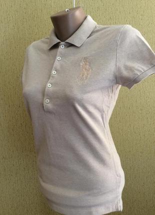 Женская  поло футболка ralph lauren slim fit оригинал размер m