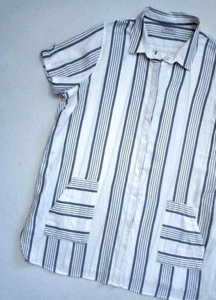 Хлопковая удлинённая рубашка большого размера