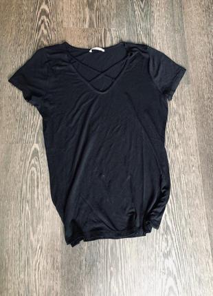 Черная футболка с переплетами orsay