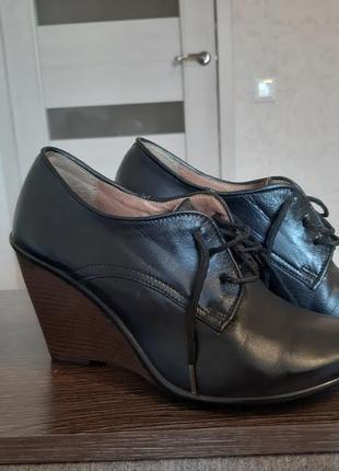 Кожаные туфли 37 р.2 фото