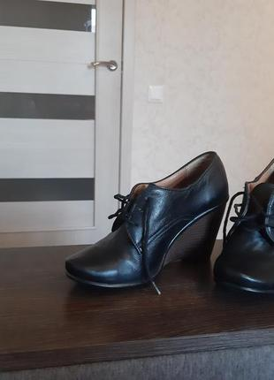 Кожаные туфли 37 р.3 фото