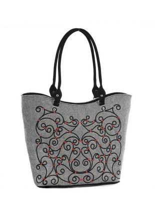 Женская сумка из войлока seka sf115k