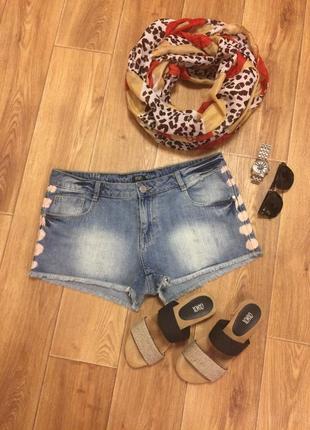Короткие джинсовые шорты f&f