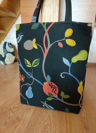 """Эко-сумка, большая сумка-шоппер """"магия ночи"""" ручной работы"""