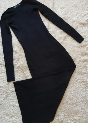 Вязаное макси платье по фигуре