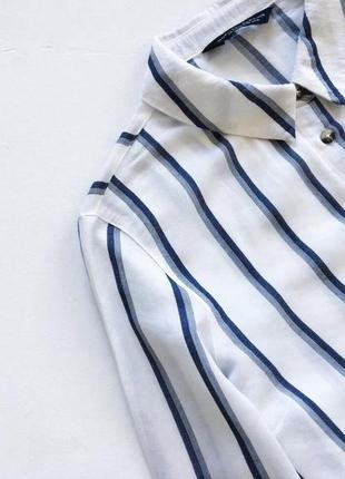 Качественная рубашка в полоску3 фото