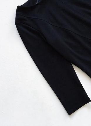 Качественное плотное платье с кожаными вставками2 фото