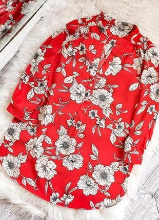 Летняя рубашка в цветы