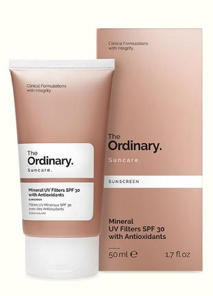 The ordinary mineral uv filters spf 30 with antioxidants крем с спф 30