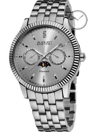 Наручные часы august steiner men's silver tone dial silver tone metal