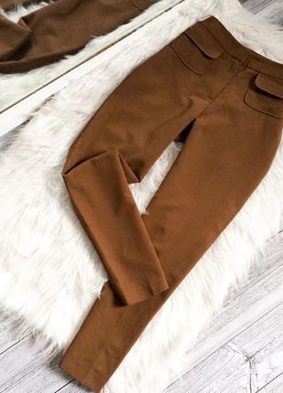 Карамельные укороченные брюки new look
