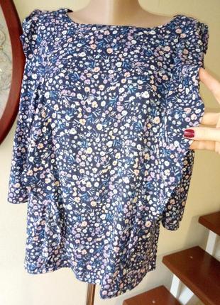 Нежная блуза в цветочек, натуральная ткань.