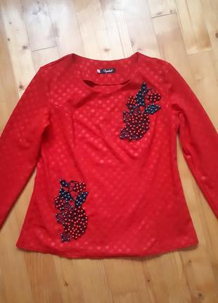 Блуза с декором из бисера.