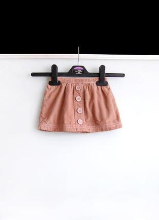 Велюровая юбка george на 3-6м / 62-68 см