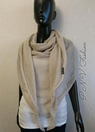 Легкая шаль накидка вязаный шарф мохер