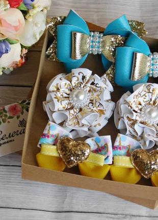 Набор детских украшений для волос в коробочке