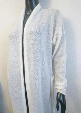Белый кардиган удлиненная кофта3 фото