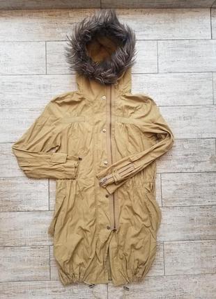 Стильная весенняя куртка парка легенькая удлиненная next размер 10