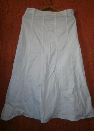 Красивая юбка длинная в пол хлопок  расклешенная