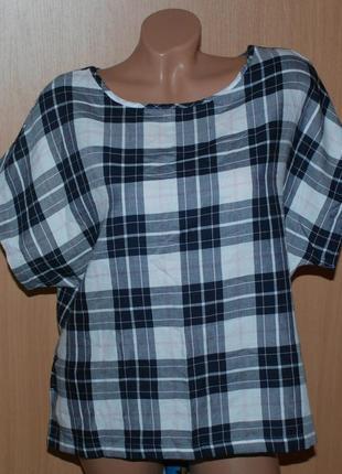 Блуза бренда  marks & spencer/ хлопок/ приспущены плечи/