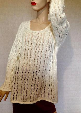 Красивый ,новый ажурный свитер большой размер