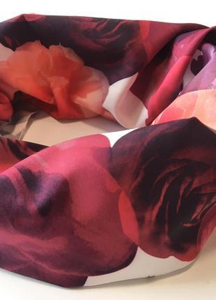 Хомут весенний шарф снуд в цветочный принт3 фото