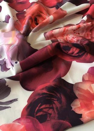 Хомут весенний шарф снуд в цветочный принт4 фото