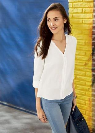 Красивая блуза - рубашка из вискозы esmara р .36, 44 европ
