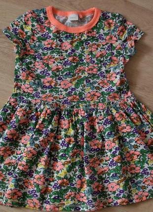 Яркое платье 2-3 года