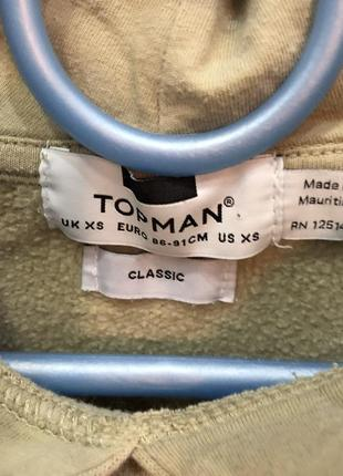Бежевое худи с капюшоном с кармашками topman6 фото