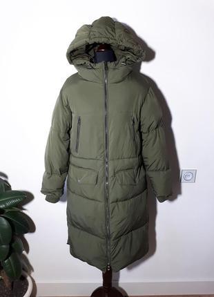 Теплое легкое пальто дутик zara