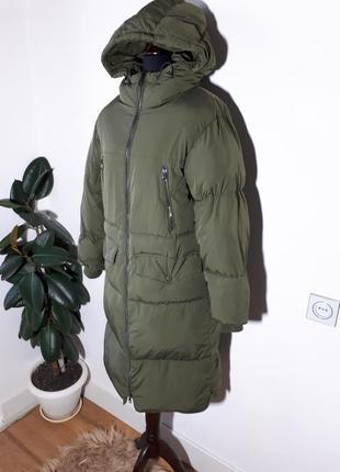 Теплое легкое пальто дутик zara2 фото