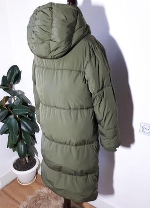 Теплое легкое пальто дутик zara4 фото
