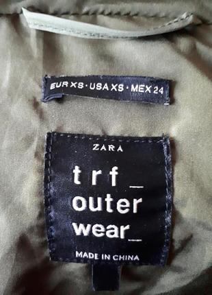 Теплое легкое пальто дутик zara8 фото