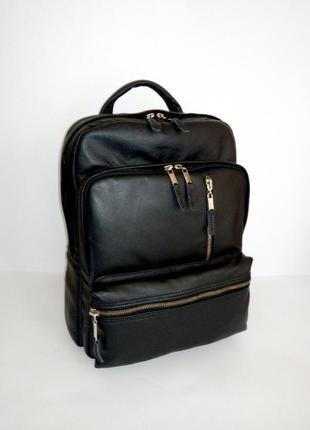Мужской кожаный рюкзак, натуральная кожа, 38-28-12.