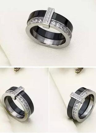 Керамическое кольцо черное керамика колечко