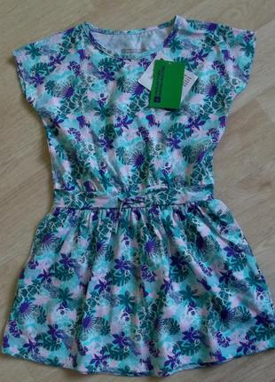 Яркое платье на 3-4 года