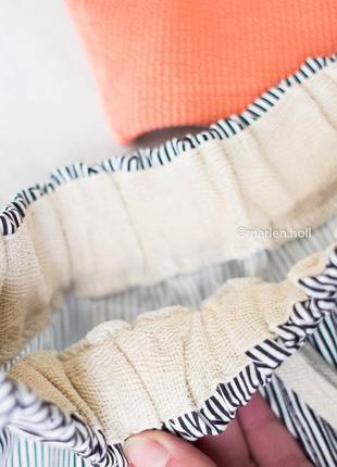 Новые полосатые шортики из хлопка6 фото