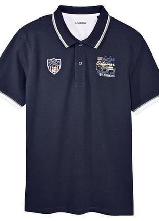 Мужское поло футболка livergy германия р.м 48 - 50 европ.