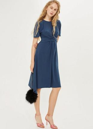 Оригинальное платье цвета морской волны topshop5 фото