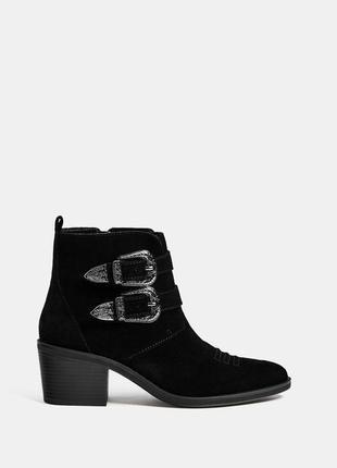 Замшевые ботинки ковбои bershka