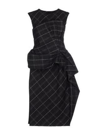 Облегающее вечернее платье миди в клетку lanvin франция оригинал