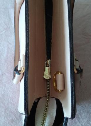 Женская сумка цвет пудра.3 фото