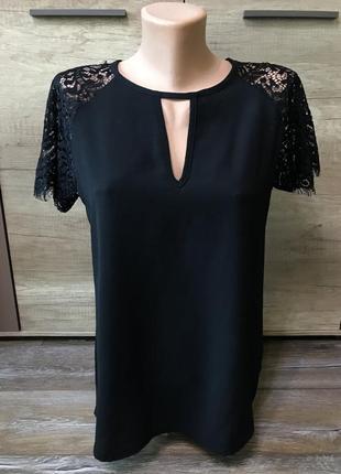 Красивая черная блуза boohoo