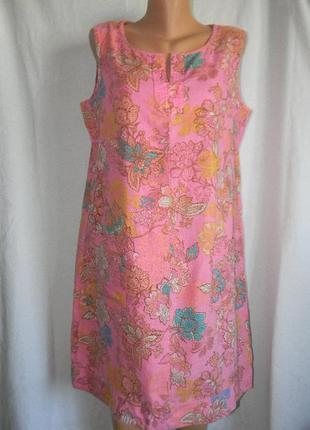 Платье лен next