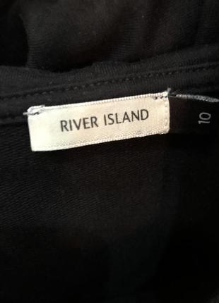 Чёрное худи с капюшоном с кармашками с лаковыми карманами river island4 фото