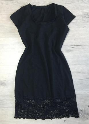 Чёрное трикотажные платье