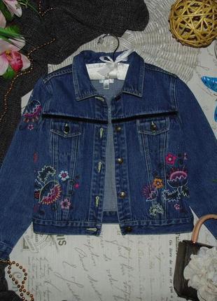 Бомбезная джинсовая куртка пиджак next.мега выбор обуви и одежды